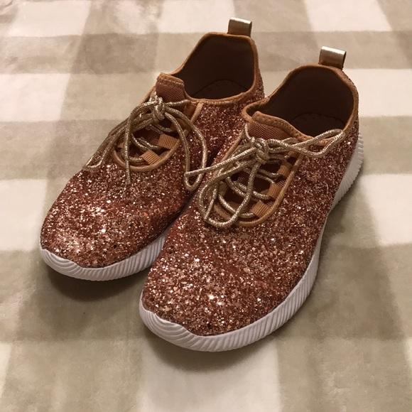 qupid glitter sneakers